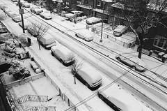 Queens in the snow (alextymchak) Tags: bw kodak street trix400 canon nyc queens new york city snow blackandwhite winter