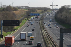 A1(M) South (J_Piks) Tags: road motorway cars roadsign directionsign lampposts lamppost a1 a1m m1 yorkshire