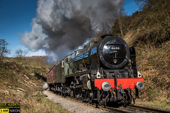 46100 Royal Scot on the NYMR (dave hudspeth photography) Tags: steam railway nymr iconic yorkshire famous davehudspeth tarnsport tracksmoke oil coal water black royalscot royal black5