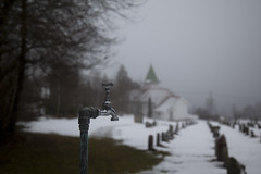 (Beathe) Tags: img1283 sando walk rundtburud neighbours winter fog burud bekkestrandakapell
