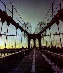 More Brooklyn Bridge on bleach (swigadelica) Tags: portra400 6x7 120film swigadelica swig newyork brooklynbridge 43mmf45 mamiya7ii