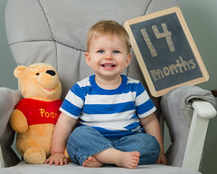 14 Months (zachary.locks) Tags: 14months adorable baby bear chair cute growing happy infant jack monthly old photos pooh series sitting smile smiling son winnie