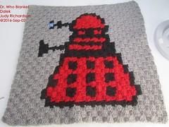 dr-who-blanket-dalek (judejean) Tags: crochet square c2c drwho 2016 2017 blanket afghan throw bobbins