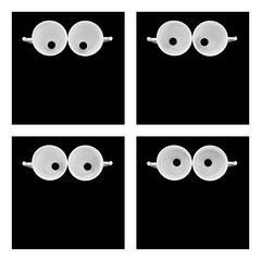 Regards (Mathieu Calvet) Tags: pentax k3 sigma35art 35mm 35 art sigma nb noiretblanc blackandwhite quadriptyque tasses regard yeux oeil