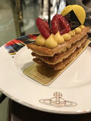 IMG_0329 (loming_tam) Tags: food vivienne westwood cafe afternoon tea pastry millefeuille puff raspberry macaron hong kong
