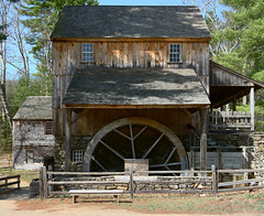 Gristmill (and it still works) (DaveLawler) Tags: gristmill grist mill wheat flour meal water wheel waterwheel power osv osvorg building architecture sturbridge village pareidolia