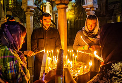 Candles sacrifice (werner boehm *) Tags: wernerboehm churchoftheholysepulchre jerusalem kirche grabeskirche kerzen candles