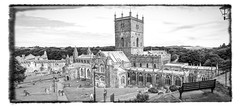 St Davids Cathedral (Bobinstow2010) Tags: cathedral church building bw blackwhite wales stdavids pembrokeshire