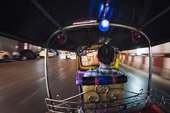 0496 Crazy Tuc Tuc Drive(r) (Hrvoje Simich - gaZZda) Tags: tuctuc road drive driver night street city speed bangkok thailand nikon nikond750 samyang1228 gazzda hrvojesimich