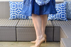 How to Get Ultra Smooth Legs for Spring (GirlWithCurves) Tags: girlwithcurves skintimate patiofurniture nudepumps skincaretips shavingtips bluedress