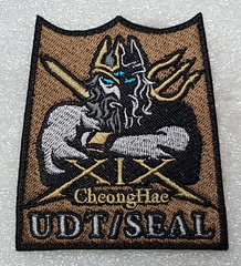Korea Navy Special Warfare Flotilla (UDT/Seal)(Cheonghae) (Sin_15) Tags: navy korea korean insignia badge cheonghae military udt seal naval special force patch warfare flotilla diver combat swimmer