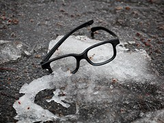 Elvis Costello has melted... (Goggla) Tags: nyc new york east village tompkins square park elvis costello melted winter glasses