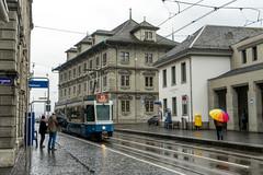 Tramhaltestelle: Rathaus (1/3) (jaeschol) Tags: europa kantonzürich kontinent rathaus schweiz stadtzürich suisse switzerland tram tramhaltestelle transport vbz