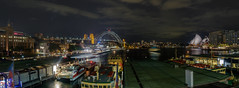 Circular Quay @ Night (Anthony's Olympus Adventures) Tags: sydney circularquay nsw australia city cityscape night dark nightime lights longexposure quay wharf port olympus photo photography photograph photogenic panorama panoramic pano wide boats boat water sydneyharbour sydneyharbourbridge sydneyoperahouse vessel waterway ferry sydneyferry urban
