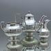 Teeservice, Teekern, Teekanne, Milchkännchen, Zuckerdose, Zuckerschale, Silber, Lemoine Fils, Paris, France