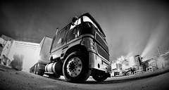 Cabover Truck (B&W) (PFSmith Media) Tags: cabover truck ford tractor trailer trucking bw blackandwhite