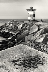 Lighthouse (wimkappers) Tags: lighthouse blackwhitephotos bw monochrome sea fishermen