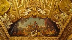 437 (udain.tomar) Tags: france paris outdoor wandering photography louvre musuem musee artifacts history lavish interior painting wall roof mural
