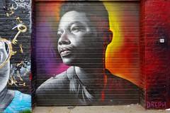 Dreph (JOHN19701970) Tags: drepth graffiti streetart graff aerosol spray paint wall artist artwork shoreditch london eastend april 2017 17 shutter bricklane uk face mural street art england spitalfields