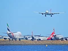 The waiting (Couldn't Call It Unexpected) Tags: boeing 737 747 airbus a330 qantas virgin emirates sydney australia kingsford smith airport