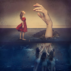 contact (brookeshaden) Tags: brookeshaden fineartphotography fineart conceptualart conceptualphotography selfportrait surrealism