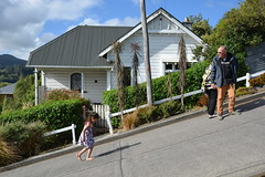Family fun at Baldwin St, World's Steepest Street (Lim SK) Tags: northdunedin otago newzealand baldwinst worldssteepeststreet world steepest street guinness records
