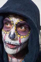 Oaxaca Day of the Dead Celebration face paint-3