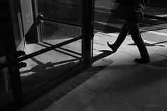 Glazed Corner (cybertect) Tags: canonfd35mmf28 cityoflondon ec2 london londonec2 miltoncourt moorlane sonya7 blackwhite blackandwhite corner monochrome morning shadow sunlight walking