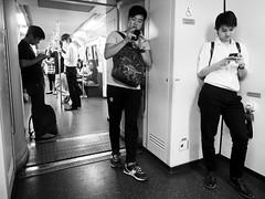 Bangkok - Fascination smartphone (sharko333) Tags: travel reise voyage asia asien asie thailand bangkok krungthepmahanakhon กรุงเทพฯ portrait man passenger metro smartphone olympus em1