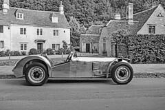 Lotus IV monochrome (cmw_1965) Tags: historic classic lotus mark mk vi 6 six racer aluminium bodied sports car 1172 ford sidevalve 10hp castle combe