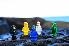 Benny and friends. (Legoistics) Tags: lego spacemen benny alien planet