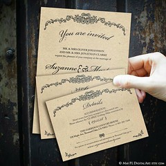 Set of vintage Victorian wedding invitation, details and rsvp cards. Easy to edit! http://etsy.me/2pUbszi #rustic #classic #easy #vintage #victorian #wedding (maypldigitalart) Tags: wedding victorian classic rustic vintage easy