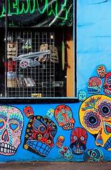 IMG_2158 (Kathi Huidobro) Tags: londonshops facade mural sugarskulls shopfacade dayofthedead london colourful colours colors skulls streetart graffiti graffitiart northlondon camden camdentown urban urbanscene