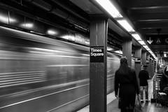 ....wusch (benno.dierauer) Tags: newyork newyorkcity subway blackandwhite schwarzweiss ubahn metro usa timessquare 70d street