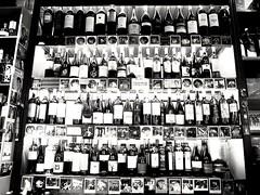 Need a drink (kallchar) Tags: drink bottles bar blackwhite monochrome nocolor olympus olympusomdem10 flickr wines public night lights entertainment