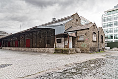 Old Warehouse On Lime Street Dublin [British & Irish Steam Packet Company]-127009 (infomatique) Tags: limestreet dublindocklands oldwarehouse bi shipping derelict williammurphy streetsofdublin streetsofireland infomatique fotonique britishirishsteampacketcompany