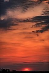 Sunset (Ray Cunningham) Tags: half sun sunset ogden illinois hdr