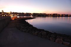 DSC00801_ (daniloorlando) Tags: salento sea otranto sunset reflections lights rocks sky harbour