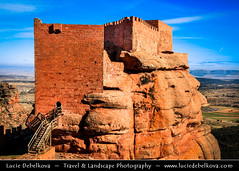 Spain - Aragon - Peracense Castle built on red color rock of San Gines (© Lucie Debelkova / www.luciedebelkova.com) Tags: peracensecastle aragon spain spanish españa kingdomofspain reinodeespaña southwesterneurope country europe europeanunion eu es wonderful fantastic awesome stunning beautiful breathtaking incredible lovely nice best perfect world exploration trip vacation holiday place destination location journey tour touring tourism tourist travel traveling visit visiting sight sightseeing wwwluciedebelkovacom luciedebelkova luciedebelkovaphotography photography landmark